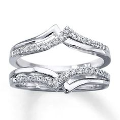 DreamJewels 14K White Gold Plated 3//8ct Brilliant Cut Simulated Diamonds Solitaire Enhancer Ring Guard Wrap
