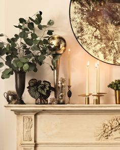 Hunt through the housewares isle of your local Savers or Value Village thrift store to create your own DIY holiday ombre mantel decor