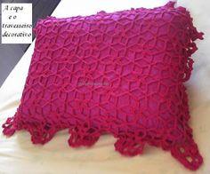 Arte em Crochet: Almofadão decorativo para cama