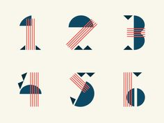 — graphicdesignblg:   Numbers by Steve Wolf