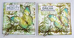 Country View Crafts' Projects: More oxides and butterflies