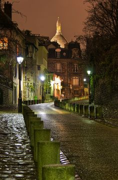 The Road to Sacre Coeur, Montmartre, Paris