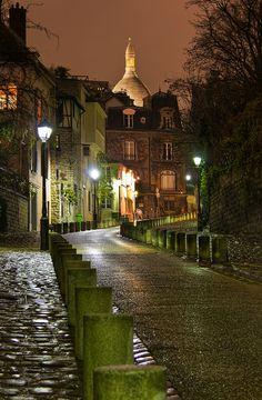 The Road to Sacre Coeur, Montmartre, Paris