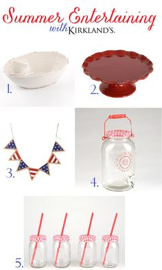 My favorite red, white and blue serving pieces for Summer entertaining @Kirkland's Home Décor & Gifts #loveyourlook