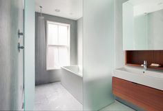 West Brookline - contemporary - Bathroom - Boston - BUTZ + KLUG Architecture