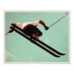 Cool poster with ski bum making his move. We change and add both text and colors, as well as size and placement, all upon request. Contact us with your unique needs and we do the rest!