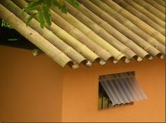 Big Bamboo poles over roof