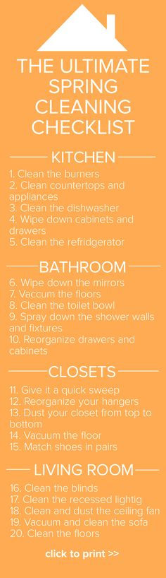 The ultimate spring cleaning checklist!