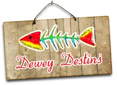 Dewey Destin's, great fresh seafood.  Need to go to the original location and go early if you don't want to wait. Has been featured on Dinners, Drive Ins and Dives.
