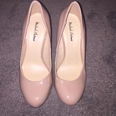 Michael Antonio Blush Heels Never Worn Brand new, without box, Michael Antonio heels from Nordstrom. size 7, runs a little small. Blush, pinkish-nude color. Michael Antonio Shoes Heels