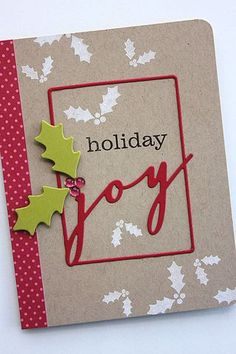 Holiday Joy Card by Heather Nichols for Papertrey Ink (September 2014)