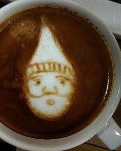 Gnome Coffee Art!!!! (Hey, Simplecity Baristas...)