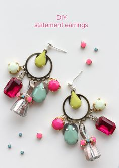 Lotts and Lots | A Modern Jewellery Making Blog : DIY - statement tassel earrings