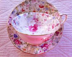 Floral Chintz Hammersley Teacup and Saucer - Edit Listing - Etsy