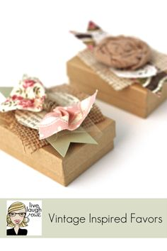 {DIY} Vintage Inspired Favors and Gift Wrap - live. laugh. rowe