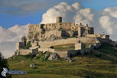 Spiš castle, Slovakia, clouds x 979 px] - Buildings/Historical - Pictures and wallpapers Big Huge, Monument Valley, Mount Rushmore, Places To Visit, Around The Worlds, Clouds, Mountains, Architecture, Building