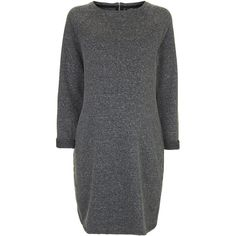 TOPSHOP MATERNITY Definitives Neppy Tunic Dress (370 ARS) ❤ liked on Polyvore featuring maternity and grey