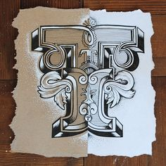 T for Type. Warming up on a Tuesday morning with card and paper contrasts...
