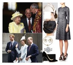 """""""Attending a National Service of Thanksgiving at St. Paul's Cathedral in honor of the Queen's 90th birthday"""" by crownprincesselizabeth ❤ liked on Polyvore featuring Shaun Leane, Alexander McQueen, Reiss and Rupert Sanderson"""