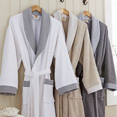View this Personalised Monte Carlo Towelling Bathrobe from MyGiftGenie. An ideal anniversary cotton gift. Monte Carlo, Men's Robes, Bath Robes, Silk Bathrobe, Luxury Towels, Gowns, Cotton, How To Wear, Outfits