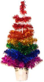 "20"" rainbow Christmas tree in silver pot"
