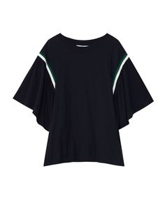 Sporty T-shirt with ruffled sleeves - New - Woman - PULL&BEAR United Kingdom