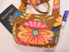 Mini HipsterCrossbody Passport Pouch by ItsSewDarnCute on Etsy, $14.50