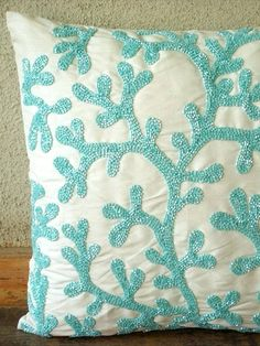 Seaweed Pillow Cover - Dress Up Your Design: Accessorize a Naked Bedroom on HGTV