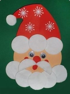 Christmas Arts And Crafts, Diy Christmas Decorations Easy, Christmas Activities, Christmas Projects, Kids Christmas, Holiday Crafts, Christmas Cards, Christmas Ornaments, Santa Crafts