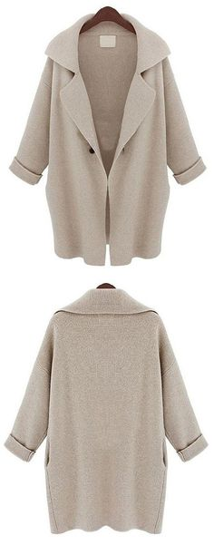 There's a cardigan for just about every occasion. The New York Minute Cardigan features oversized collar and pockets at sides. Hot Sale at CUPSHE.COM !