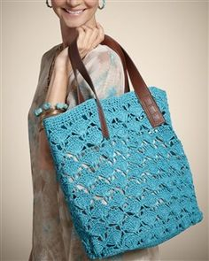 scallop crochet bag from Chicos