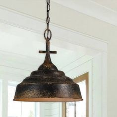 Complement your home's decor with rustic farmhouse ceiling lights from Antique Farmhouse. Perfect your vintage style today! Cage Pendant Light, Rustic Pendant Lighting, Rustic Chandelier, Pendant Light Fixtures, Pendant Lamps, Chandelier Chain, Vintage Light Fixtures, Rustic Lamps, Pendant Lights