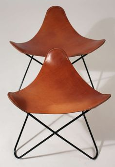 Knoll Butterfly Chair Ottoman Or Stool Pair 4