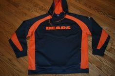 New Chicago Bears NFL Football Reebok Hoodie Pullover sweatshirt Men's 2XL XXL #Reebok #ChicagoBears