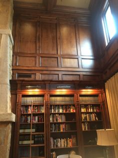 Library Stained Paneling - Paper Moon Painting