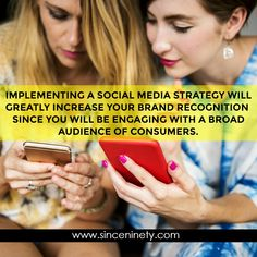 Implementing a social media strategy will greatly increase your brand recognition sine you will be engaging with a broad audience of consumers. Marketing Branding, Social Media Marketing, Digital Marketing, Competitor Analysis, Advertising, Management, Business, Amazing, Inspiration