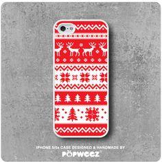 Coque iPhone 5 / 5s Hiver Cerf Noël  Envoi Offert dans par POPWEEZ