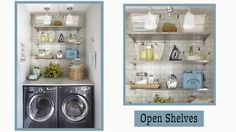 Organize a small laundry room with these smart storage tricks and tips to bring order to your laundry routine./