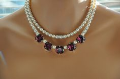 Bridal Statement NecklaceBridal by cynthiacouture on Etsy
