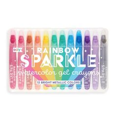 Rainbow Sparkle Watercolor Gel Crayons
