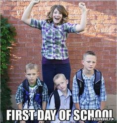 first day of #school , #funny #mom ;p