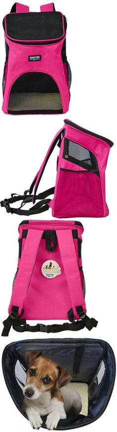 Carriers and Totes 177788: Airline Approved Pet Carrier Under Seat Air Travel Dog Cat Backpack Bed Hot Pink BUY IT NOW ONLY: $31.95