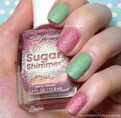 Sally Hansen Sugar Shimmer Nail Color Swatches and Review.