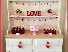 Valentine's 'LOVE' Dessert Table