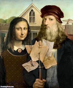 Leonardo and Mona Lisa in American Gothic Painting