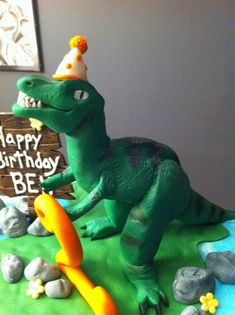 T-Rex Birthday Cake Dinosaur Birthday Cakes, Dinosaur Cake, 3rd Birthday, Birthday Ideas, T Rex Cake, Dino Cake, 1 Year Olds, Kids Education, Little Boys