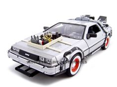 """Delorean From Movie """"Back To The Future 3"""" Diecast Model 1/24 Die Cast Car by Welly"""