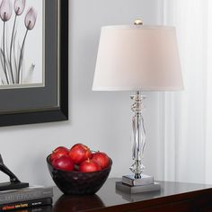 Julian crystal twist column table lamp columns crystals and lights aloadofball Choice Image