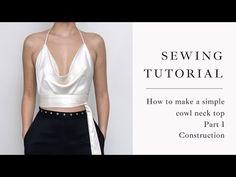 Cowl Neck Dress, Cowl Neck Top, Diy Clothing, Clothing Patterns, Fashion Sewing, Diy Fashion, Diy Clothes Design, Sewing Blouses, Diy Dress