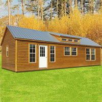 Shown In The 16x50 Size With Optional Thermal Pane Windows 9 Lite Door Premium Log Siding And Galvalume Metal Roof Lofted Barn Cabin Log Cabin Log Siding